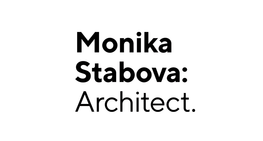 logo design monika stabova architect