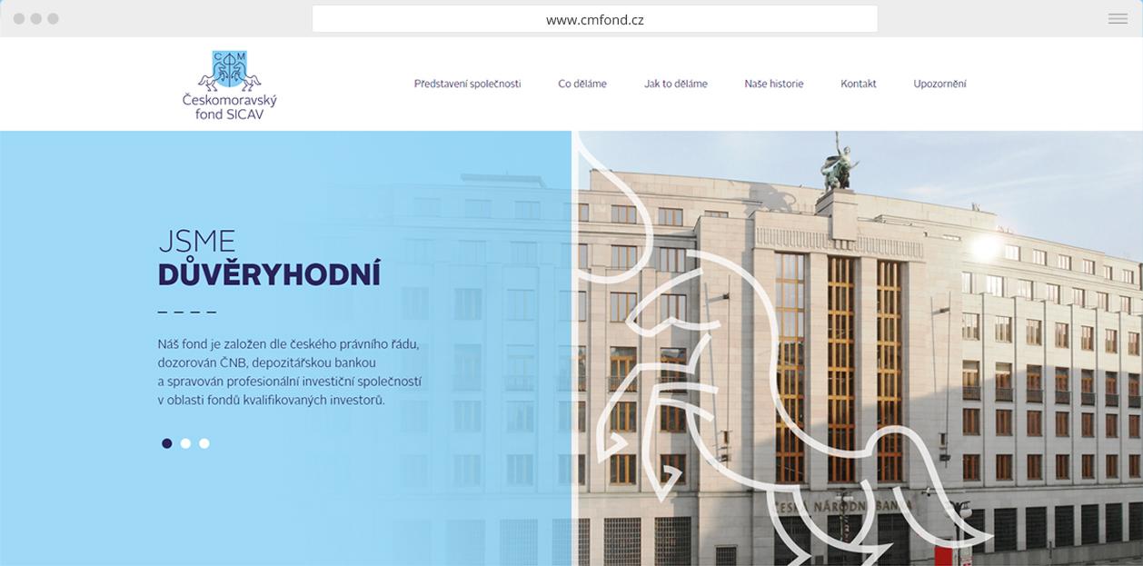 webdesign Českomoravský fond sicav