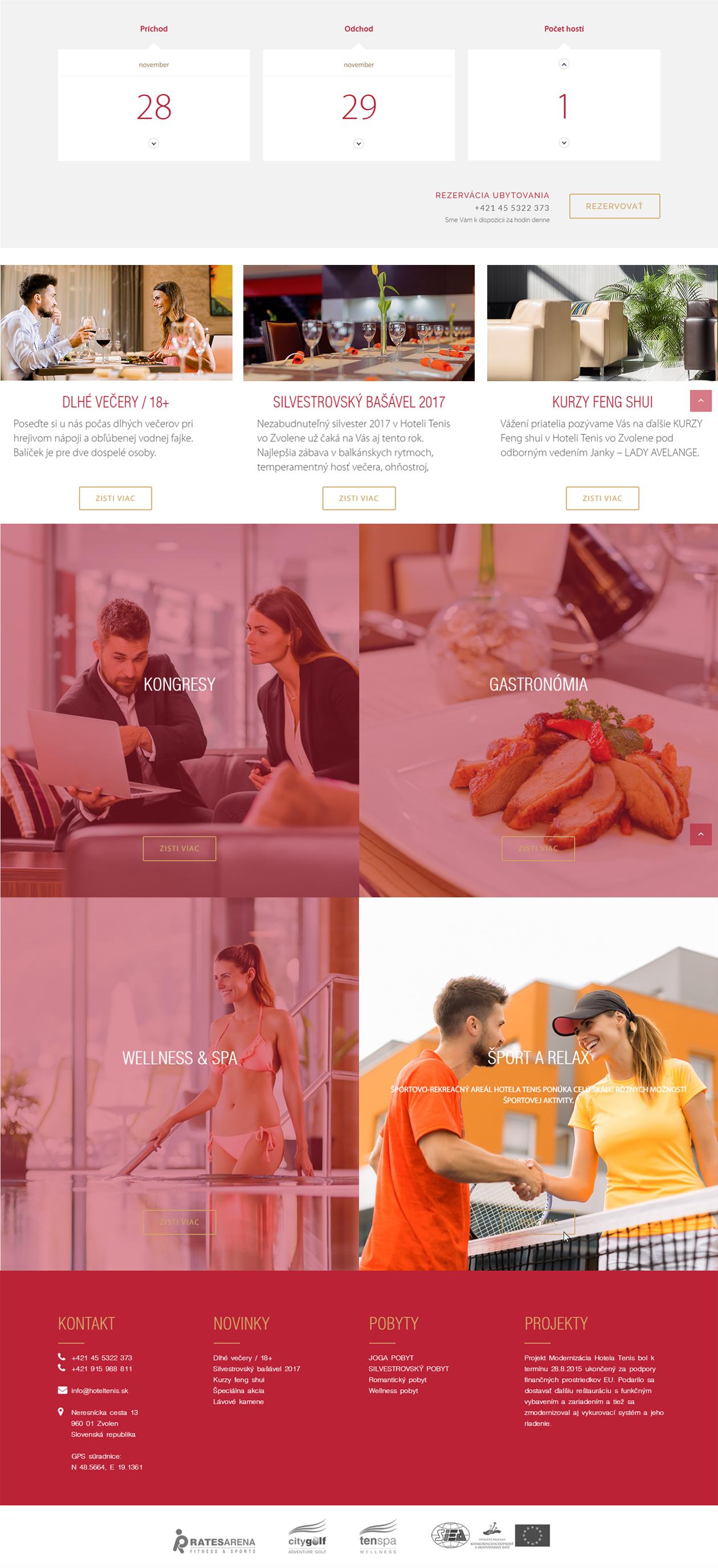 webdesign Hotel Tenis