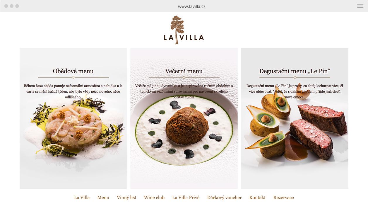 webdesign LA VILLA RESTAURANT