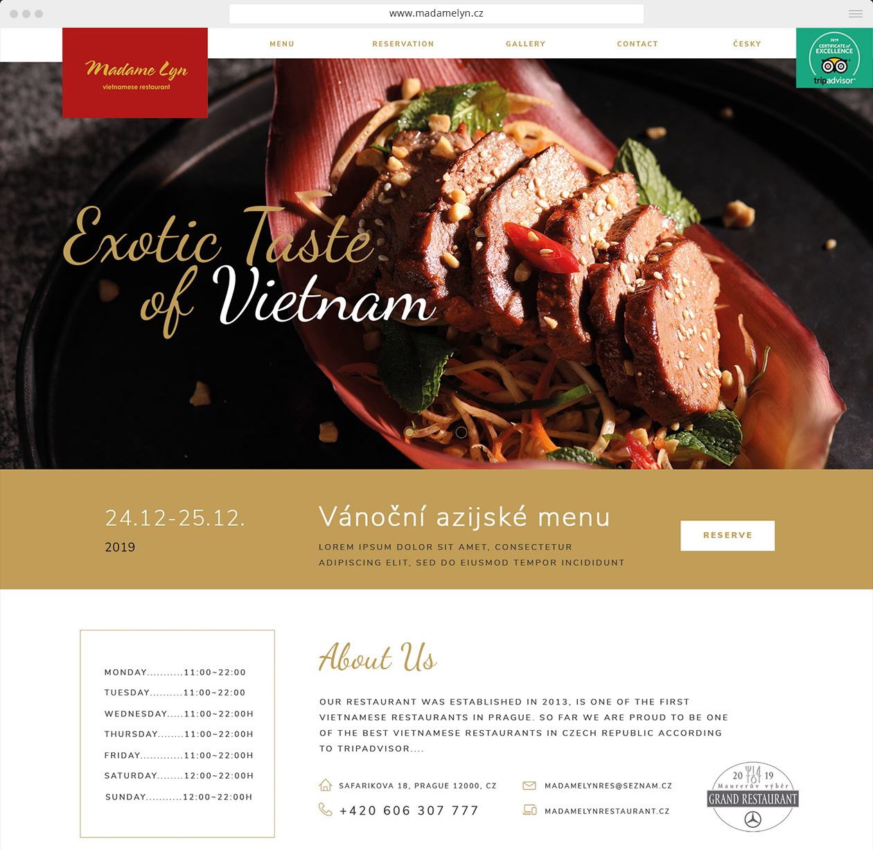 webdesign MADAME LYN