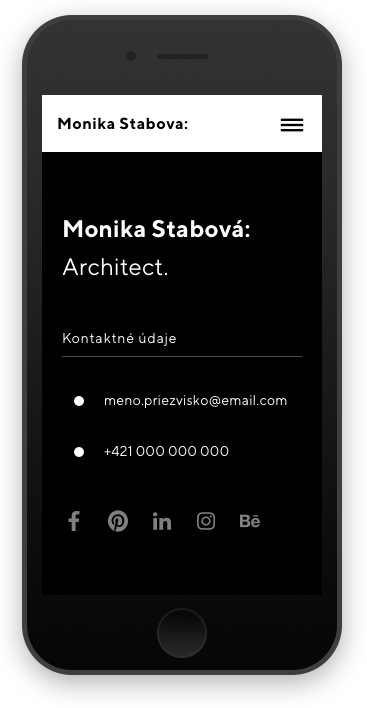 responzivita Monika Stabova Architect